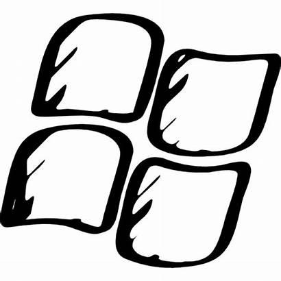 Windows Icon Sketched Vector Vectors Ago Eps