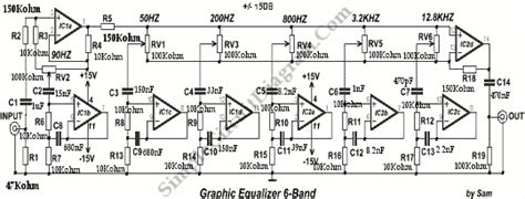 Band Graphic Equalizer Simple Circuit Diagram