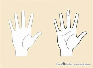 How to Draw Anime Hands Step by Step   Anime Outline