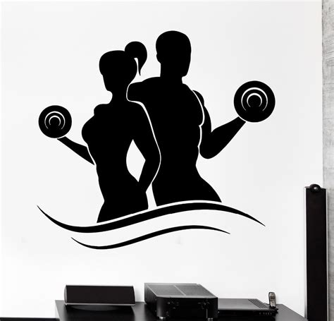 buy gym center wall sticker home decor