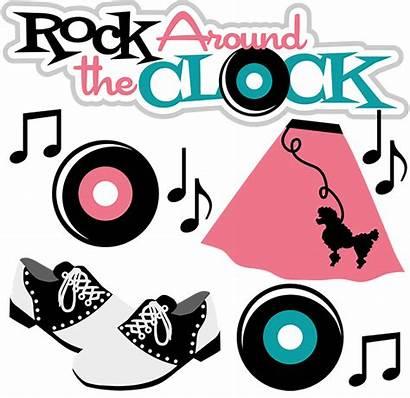 50s Clip Clipart Hop Fabulous Rock Sock