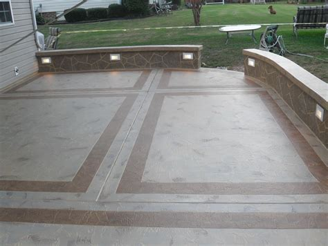 poured concrete patio ideas home design ideas