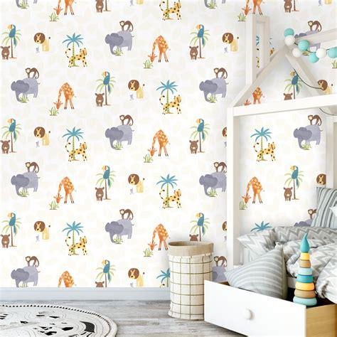 Childrens Animal Wallpaper - holden jungle friends childrens animal wallpaper
