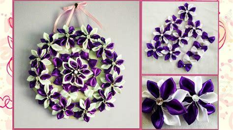 satin ribbon craft ideas diy wall hanging craft idea using satin ribbon 5364