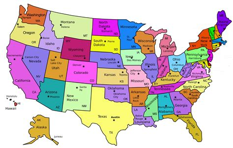 map  united states capitals diy united states magnets