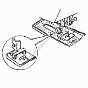 Kenmore Buttonhole  Low Vertical  Foot  213503015pd  158