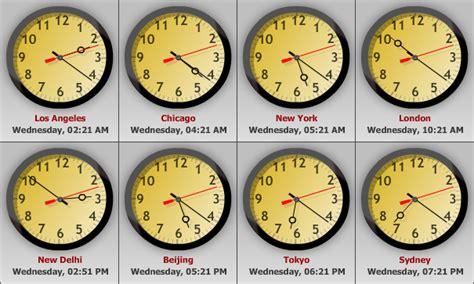 advanced world clock track time globally