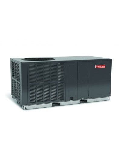 goodman  ton  seer heat pump package unit horizontal