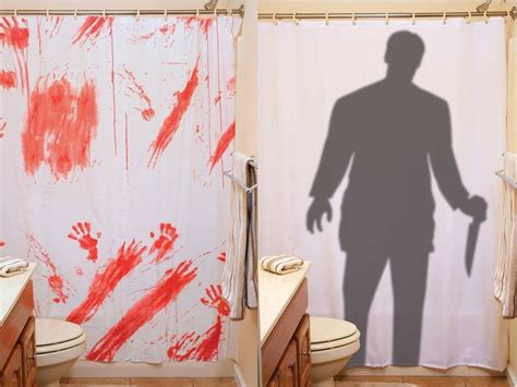 creepy shower curtain creepy horror bloody shower curtain or stalker