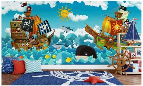 custom mural photo  wallpaper childrens boy house