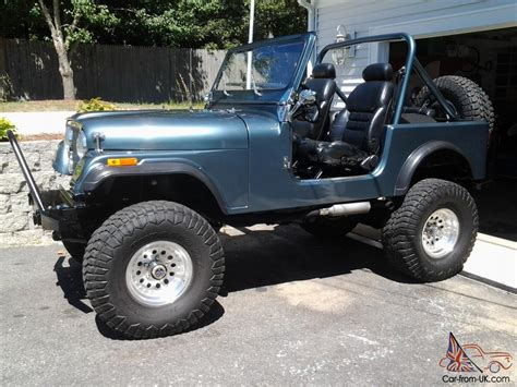 jeep cj convertible blue ebay motors