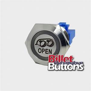 22mm  U0026 39 Exhaust Open Symbol U0026 39  Billet Push Button Switch