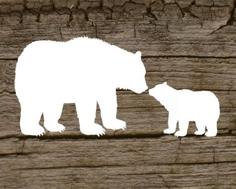 Digital Printable Of A Mama Bear And Her Cub By