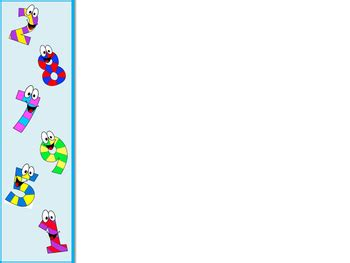 happy numbers math powerpoint background  early grades