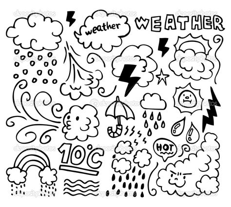 weather coloring pages    print