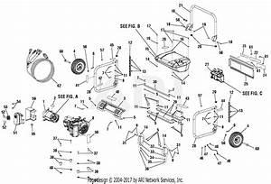 Homelite Hu5000 Storm Series 5 000 Watt Generator Parts Diagram For General Assembly