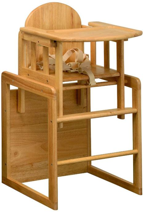east coast 3 in 1 combination wooden highchair play table