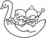 Twin Coloring Stars Twins Pages Sanrio Star Lala Printable Getcolorings Gemini Projects Kitty Hello Template sketch template