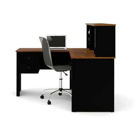 bestar somerville l shaped desk with hutch bestar somerville l shaped desk with hutch in black and