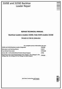 John Deere 310se Backhoe Loader  315se Side Shift Loader