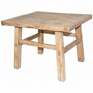 rustic teak indoor or outdoor coffee table or seat for With teak coffee table indoor