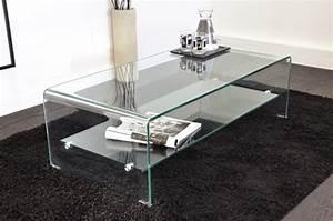 Table Basse En Verre Pas Cher : table de salon design en verre design en image ~ Teatrodelosmanantiales.com Idées de Décoration