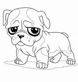 Pug Coloring Sad Face Pages Puppy Cute Drawing Bulldog Colouring Print Animal Little Dog Printable Drawings Cartoon Sheets Outline Adult sketch template