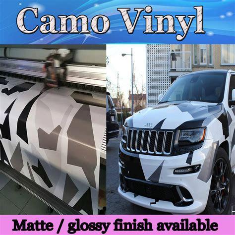 matte glossy arctic camo vinyl wrap pixel car wrap winter snow camouflage sticker unique
