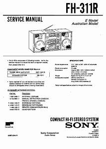 Sony Fh-311r Service Manual