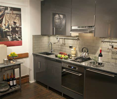 harlem townhouse apartment eclectic kitchen  york