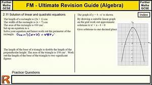 Solving Quadratic Equations Graphically Gcse