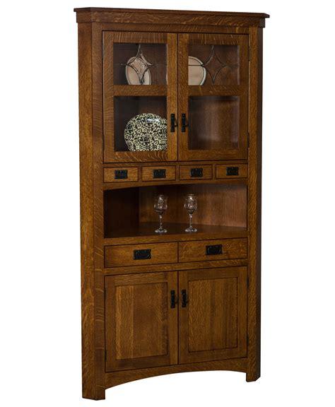 cape  corner curio cabinet amish direct furniture