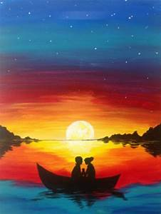 5 best sunset painting sunset painting silhouette