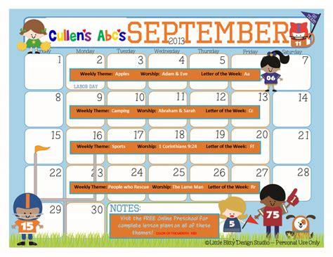 preschool calendars christian children activities 119 | September 2013 1024x791