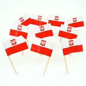 Polish Flag Toothpicks Poland Theme Party Decorations