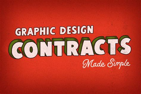 graphic design contracts  simple letter shoppe hand