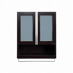 "DecoLav 5248-ESP Espresso Tyson 22"" Wood Wall Cabinet with ..."