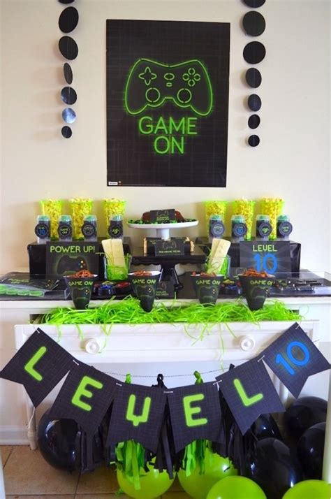 gaming video gamer birthday party boy party ideas
