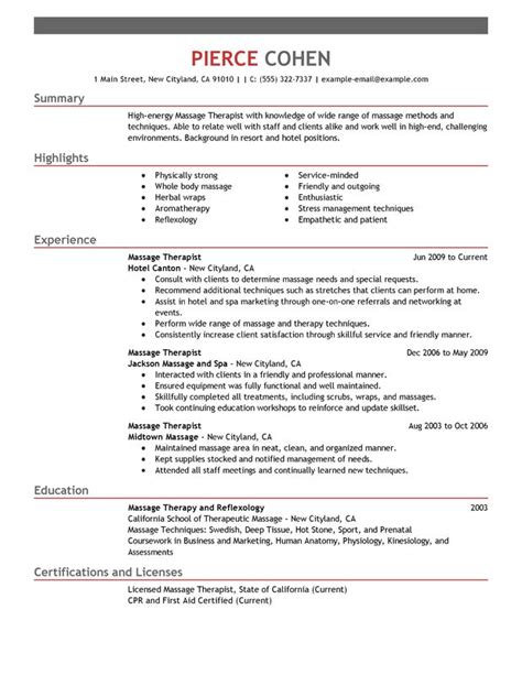 unforgettable massage therapist resume examples  stand
