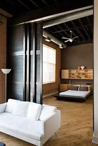 Separation Salon Chambre : d couvrir la porte galandage en beaucoup de photos ~ Zukunftsfamilie.com Idées de Décoration