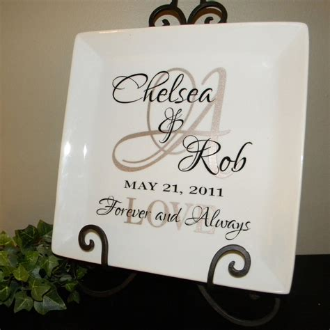 personalized wedding gift plate anniversary gift   ginatet