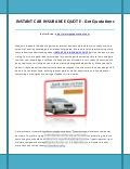 Instant Car Insurance by Salvage Value Calculation