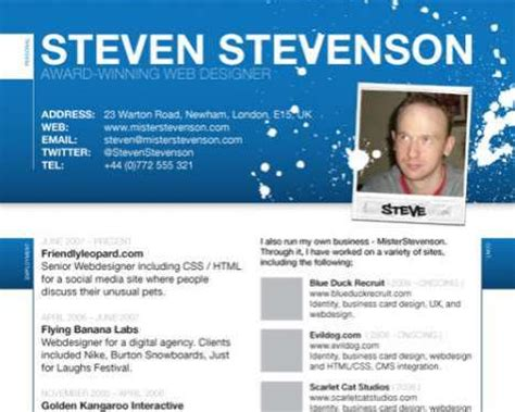 Resume Web Site by Infographic Resumes Creatives Flock To Designer Cvs To Stand Out From The Crowd