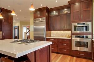 Best granite countertops for cherry cabinets the for Kitchen colors with white cabinets with wall art letters wood