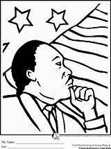 Coloring Luther Martin King Mlk Pdf sketch template
