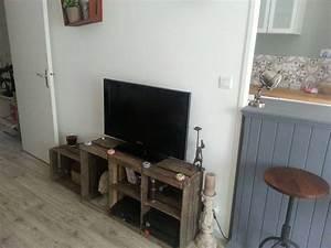 meuble tele diy apple crate box caisse pomme With meuble caisse de vin en bois