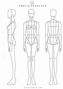 Body outline template fashion design pictures to pin on for Textiles body templates