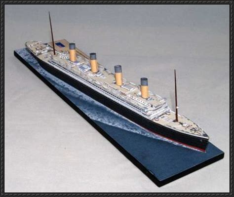 Rms Olympic Model Sinking by Olympic Class Liner Hmhs Britannic Free Ship Paper
