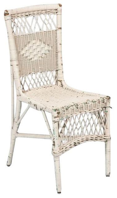 sold out vintage white wicker chair 450 est retail