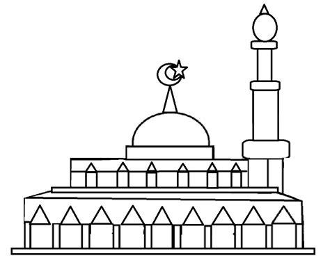 gambar masjid buat lomba mewarnai belajarmewarnai info